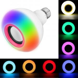 Умная светодиодная LED лампа с  музыкой по Bluetooth