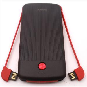 Внешний Аккумулятор POWER BANK IPIPOO LP-5 10000 MAH (ЧЕРНЫЙ С КРАСНЫМ)