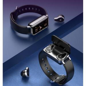 Фитнес-браслет Lemfo T89 - комплект или 2 в 1: смарт-браслет + наушники