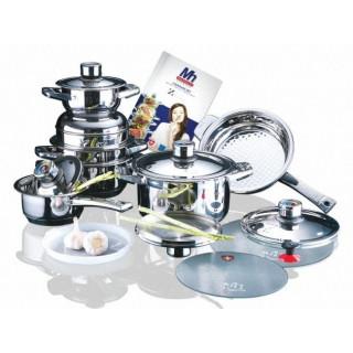 Набор посуды 17 пр,из нержавеющей стали Millerhaus MH-8838