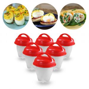 Силиконовые формы для варки яиц без скорлупы Silicone Egg Boil, 6 шт