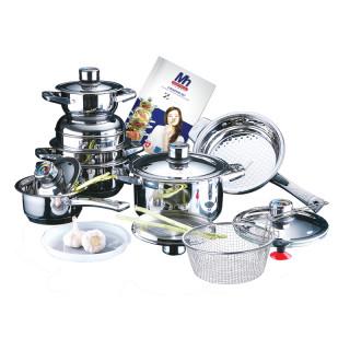 Набор посуды 17 пр из нержавеющей стали Millerhaus MH-1988