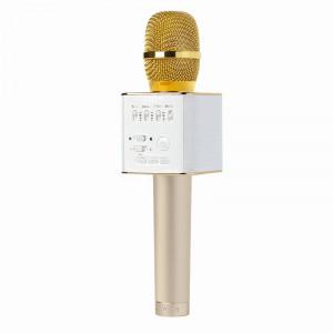 Беспроводной караоке микрофон со встроенной колонкой Q9