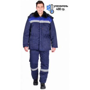 Костюм зимний Труженик-Ультра темно-синий/васильковый 87459112