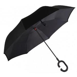 Зонт наоборот (Черный) UPBRELLA