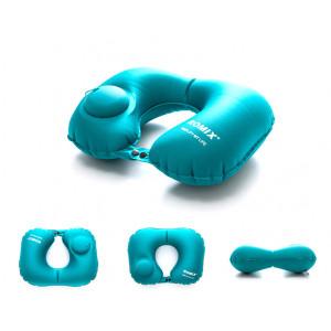 Дорожная надувная подушка для шеи со встроенной помпой