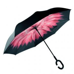 Зонт наоборот (Нежно-розовый цветок) UPBRELLA