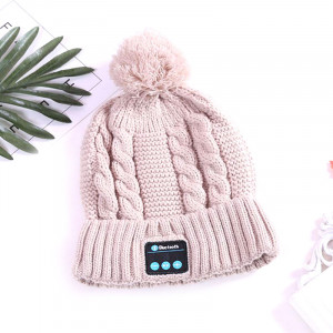 Вязаная шапка с Bluetooth одноцветная