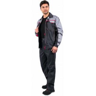 Костюм Фаворит-1 Премиум (тк.Балтекс,210) брюки, т.серый/св.серый