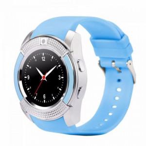 Умные часы Smart watch V8+ цвет голубой