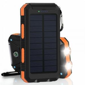 Портативная зарядка Power Bank на солнечной батарее 20000 mAh