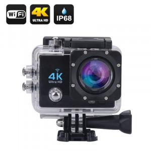 Экшн-камера ActionMan 4K, 4K Ultra HD, объектив 170 градусов, 16 Мп Black