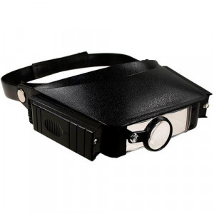 Лупа налобная Magnifier Head Strap W/Lights MG 81007
