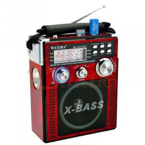 Радиоприемник с MP3 плеером и с фонариком Waxiba XB-1051URT красный