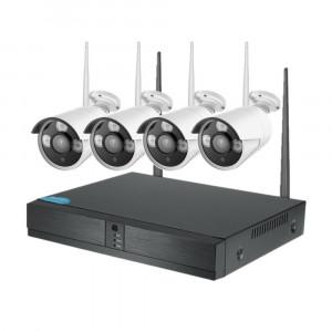 Беспроводной комплект видеонаблюдения c 4 камерами XPX H.265+WiFi