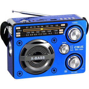 Радиоприемник FM/USB/SD CMiK MK-1064 Blue (Синий)