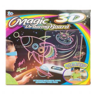 3D планшет для детей Magic Drawing Board (Ракета)