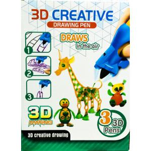 3D-ручка «Creative drawing pen» (3 цвета)