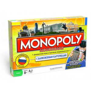 Настольная играМонополия - Россия (с банковскими карточками)