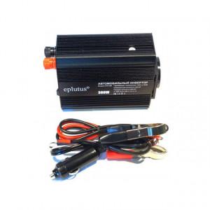 Автомобильный инвертор 12-220в 300Вт  Eplutus PW-300