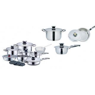 Набор посуды из нержавеющей стали Royal Salute RS-1900 19 предметов
