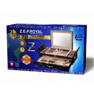 Набор столовых приборов 72пр 18/10 в мраморном чемодане Z.E.P. ROYAL