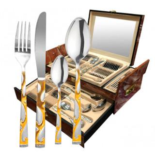 Набор столовых приборов в деревянном ящике Zillinger Leona 72 предмета