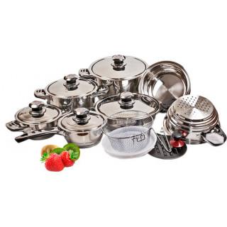 Набор посуды 19 пр. из нержавеющей стали Munchenhaus МН-1144