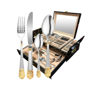 Набор столовых приборов из нержавеющей стали ROYAL 72 пр. в деревянном чемодане RL7792