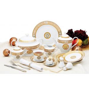 Столовый сервиз на 6 персон 57 пр VS.ITALY VS-1570094 Gold