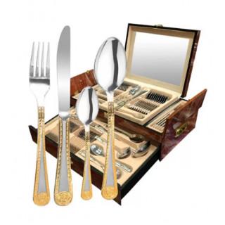 Набор столовых приборов в деревянном чемодане ROYAL 72 предмета