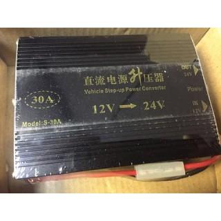 Преобразователь напряжения 12V/24V для автомобиля с 12 на 24 вольта 30амп