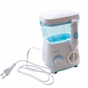 Ирригатор для полости рта Aqua Pro, 600 мл, 8 насадок до 7 атм., пульсация 1400, от сети, GESS-707