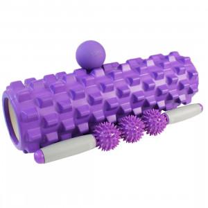 Набор для йоги ANANDA, набор для фитнеса, валик, палка с роликами, мячик, комплект для фитнеса и йоги GESS-094