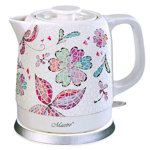 Электрический чайник 1,5 л с керамическим корпусом Maestro MR-068B