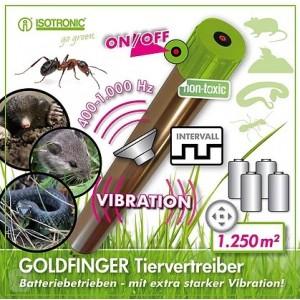 GOLDFINGER Ультразвуковой отпугиватель кротов, мышей, змей и муравьев