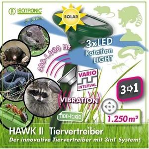 HAWK 2 Ультразвуковой отпугиватель кротов, грызунов, муравьев, змей 70049