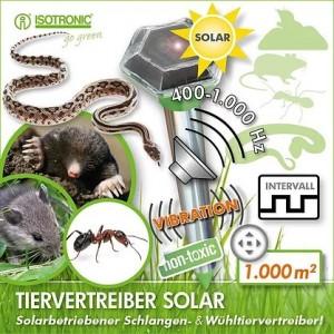 SOLAR RODENT Ультразвуковой отпугиватель кротов, мышей, змей и муравьев