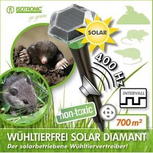 SOLAR Ультразвуковой отпугиватель кротов, крыс и мышей