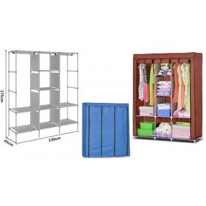 Складной каркасный тканевый шкаф с узорами Storage Wardrobe