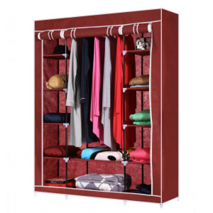 Складной каркасный тканевый шкаф Storage Wardrobe Red (красный)
