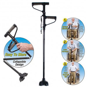 Трость двухручная складная с подсветкой Get up and Go cane