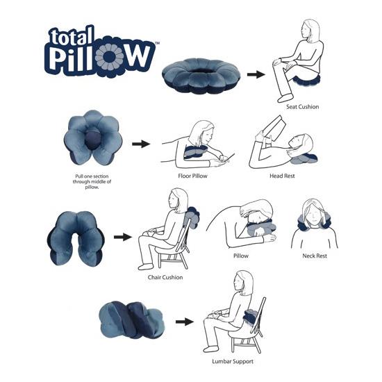 Подушка для путешествий Total Pillow 2018 купить в goodstore24.ru